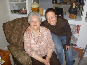 Mamma & me, on a visit just before I moved to Zambia.