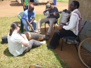 Eleanor, Ba Henry, Jacob, and Bashimpundu, playing some awesome music.