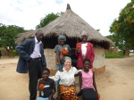 My Zambian family, who took such good care of me during PST.