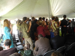 Our intake of LIFErs and RAPpers, taking the oath.
