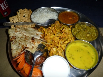 Delicious, all-you-can-eat Indian food in Lusaka. OK, so I did kinda miss this stuff during my three months of Community Entry in Mfuba ...