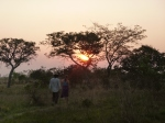 Samwell and Kate walking back from Lake Lusiwasi, in Kate's village, at sunset.