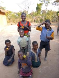 My Mfuba buddies: Left to right, Joyci, Annette, Obed, Memory, Doro, and Allan.