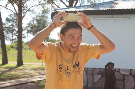 PCV Zach (one of the Golden Girls) with his water.