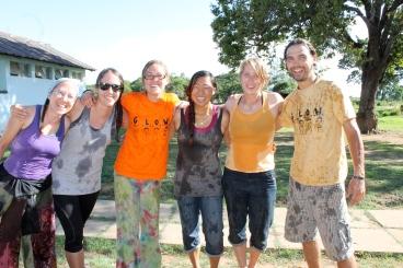 Me, Meggan, Heidi, Clara, Garrett, and Zach, post-water fight. Yeah, we needed a little break/cool off. Camp GLOW was an exhausting week!