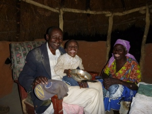 Bataata, Bamaayo, and their grandson, Musonda.