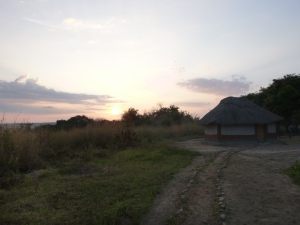 I never got tired of the view behind my little house on my host family's compound in Yuda Village.