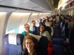 Future PCVs on a plane en route to Zambia, 13 February 2013. None of us had any idea what we were in for.