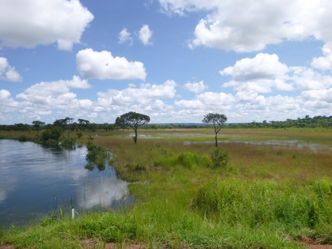 Lukulu River and wetlands in flood. My favorite spot along the ride from Mfuba to Kasama.