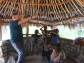 "My brother Lee, teaching the Mfuba kids ""the sprinkler"" dance."