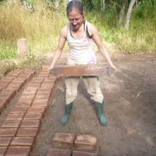 Making bricks. This one really made the guys crack up.