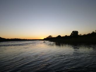 Sunset on the Zambezi.