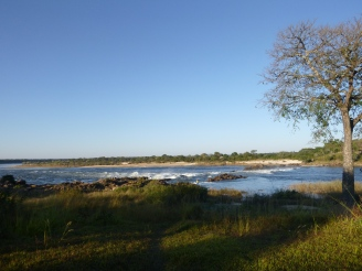 View from our campsite outside Chavuma.