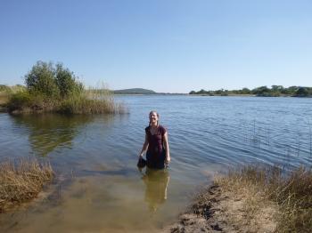 Me, soaking wet in the Zambezi River.