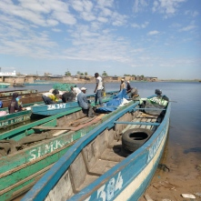 Boats remain the main source of transport west from Mongu.