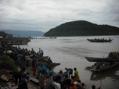The hustle and bustle of Mpulungu's port.
