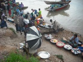 Fish traders on the shores of Lake Tanganyika.