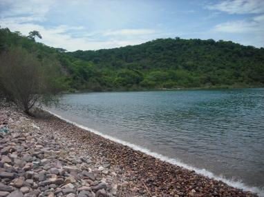 Island view of Lake Tanganyika.