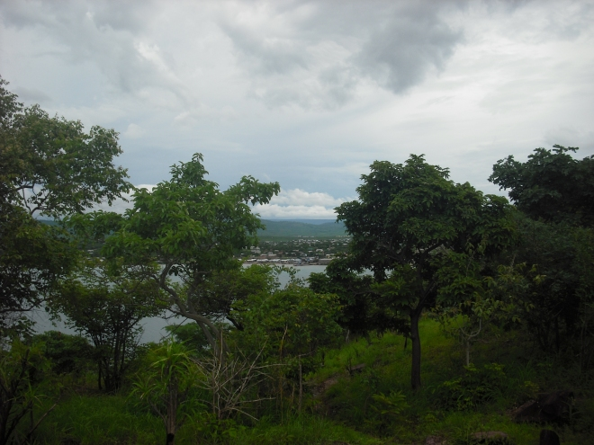 View of Mpulungu from a nearby island.