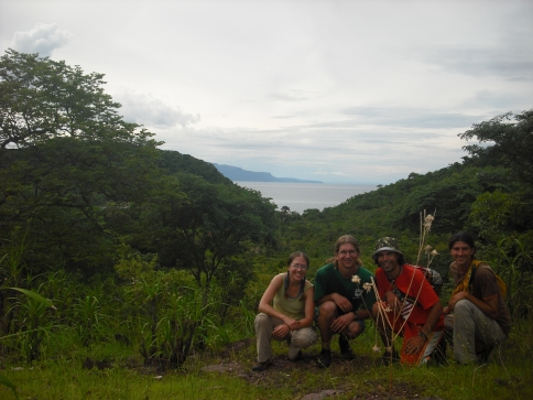 View from our hike on an island in Lake Tanganyika. Left to right: me, Mark, Zach, and Samwell.