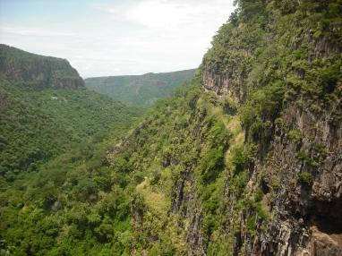 Cliffs near Kalambo Falls, east of Lake Tankanyika.