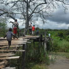 Crossing our way unofficially into Tanzania.