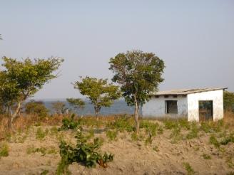 Abandoned home on Lake Lusiwasi, at PCV Kate's site.