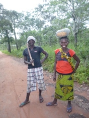 Ba Freddy and Ba Judith, on their way back from the field.