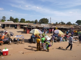 Market on the outskirts of Solwezi.