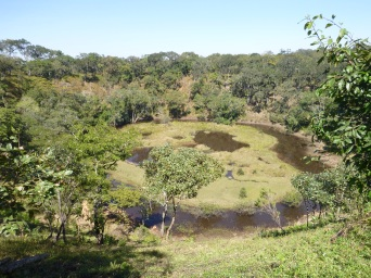 Natural sinkhole near Katie's village of Mukeya.