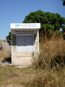 Oddly enough, someone was trying to sell water along the Zambezi River.