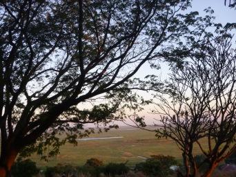 View of the Zambezi Floodplain from our hotel in Mongu.