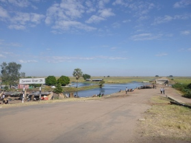 Mongu harbor. We were surprised to discover how far it was to the main channel of the Zambezi!