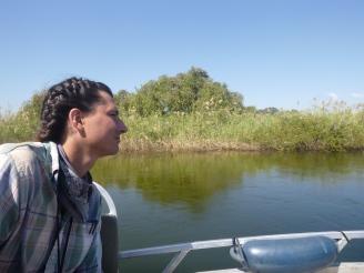 Samwell gazes into the Zambezi Floodplain.
