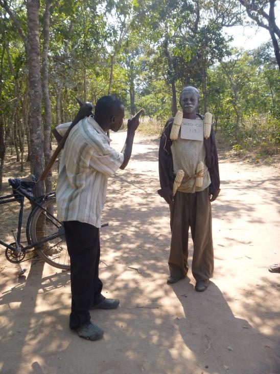 Ba Bernardi chastising an accused maize thief.