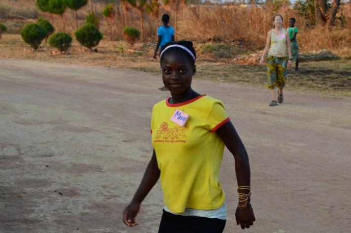 Mwape takes the field.