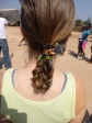 My awesomely braided hair. This was the first of two times I got braids over the week of Camp GLOW.