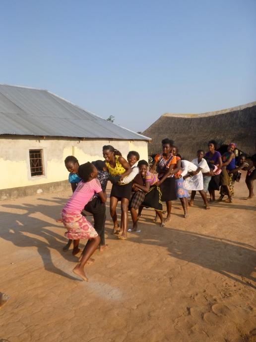 Human tug-of-war. Yep, Bemba girls like to make every game as violent as possible.