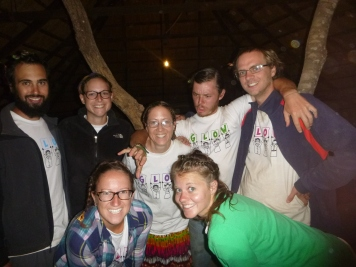 The Gu Crew PCVs on our last night of Camp GLOW. Exhausted but happy, and showing off our awesome braids. Back row, left to right: Jesse, Hayley, me, Adam, Tristan. Front row: Taylor and Erica. Sadly, by this point Dan had come down with malaria and couldn't make the photo.
