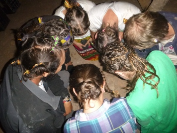 On the last day, the girls braided all the PCVs' hair!