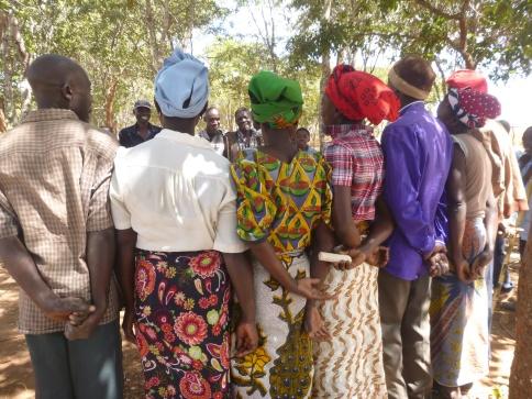 Members of the Kapanda Anti-AIDS Club playing a game about stigma.