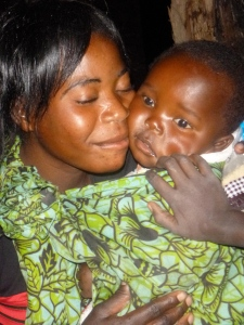 Ba Brenda with her single-named baby son, Knowledge.