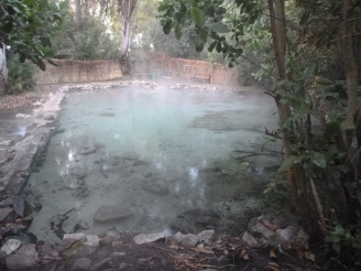 Steamy hot springs!