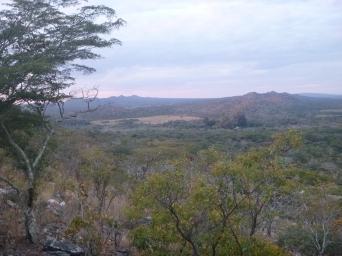 Views on the way up a rocky hill.