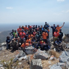 Camp TREE participants at the summit of Mount Lavushi.