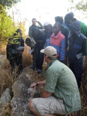 Bastiaan explains the remnants of a mongoose's last meal.