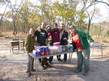 The breakfast-serving crew: L to R: Taylor, Zach, Scott, Trevor, Cody, and Amy. Without these guys stepping in to help with all the essential details, TREE wouldn't have happened.