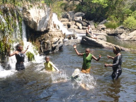 Yep, the Lukulu River was COLD!