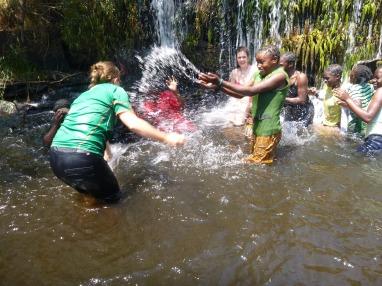 Prudence splashing PCV Taylor.