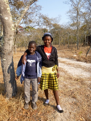 Camp TREE kids of the day Romeo and Purity.